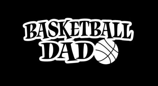 Basketball Dad Decal Sticker - https://customstickershop.us/product-category/family-sports-stickers/