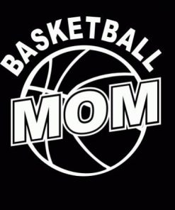 Basketball Mom II Decal Sticker - https://customstickershop.us/product-category/family-sports-stickers/