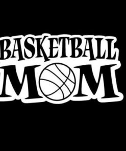 Basketball Mom III Decal Sticker - https://customstickershop.us/product-category/family-sports-stickers/