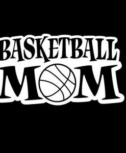Basketball Mom III Decal Sticker - //customstickershop.us/product-category/family-sports-stickers/