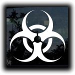 Biohazard Window Decal Sticker - https://customstickershop.us/product-category/stickers-for-cars/