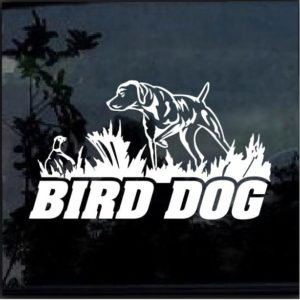 bird dog hunting decal sticker