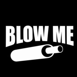 Blow Me funny Duck Call Decal Sticker 1