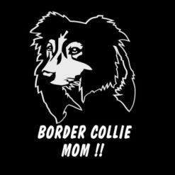 Border Collie Mom Dog Stickers