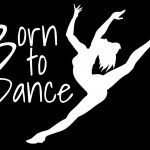 Born to Dance Ballet Decal Sticker - https://customstickershop.us/product-category/family-sports-stickers/