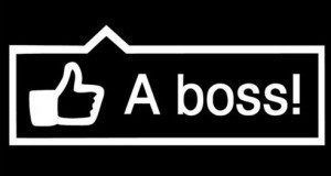 Like a Boss Funny JDM Sticker - https://customstickershop.us/product-category/jdm-stickers/