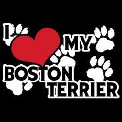 Boston Terrier Love Dog Stickers
