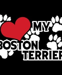 Boston Terrier Love Dog Stickers