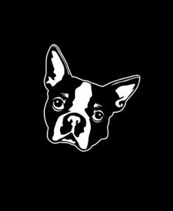 Boston Terrier Head Window Decals //customstickershop.us/product-category/animal-stickers/