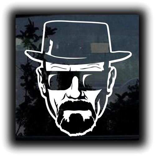 Breaking Bad Heisenberg Car Vinyl Decal Stickers - Car decal stickers