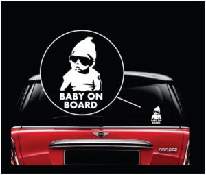 carlos hangover baby on board window decal sticker