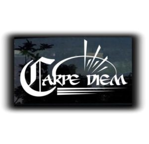 Carpe Diem Window Decal Sticker - https://customstickershop.us/product-category/stickers-for-cars/
