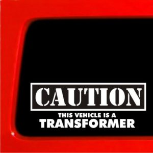 Caution Transformer JDM Stickers - https://customstickershop.us/product-category/jdm-stickers/