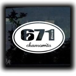 Guam 671 Chamorita Window Decal - https://customstickershop.us/product-category/stickers-for-cars/