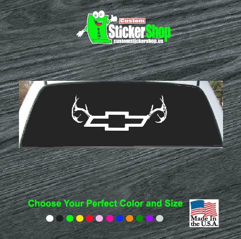 Graphics For Antler Rear Window Graphics Wwwgraphicsbuzzcom - Rear window hunting decals for trucksgeese scenery sticker for rear window hunting decals for trucks