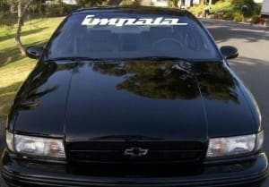 Chevy Impala Windshield Decals - https://customstickershop.us/product-category/windshield-decals/