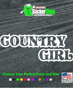 country girl decal sticker