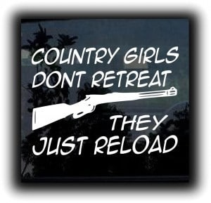 Country Girls Reload Decal Sticker - https://customstickershop.us/product-category/western-decals/