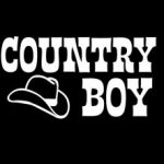 Country Boy With Hat Decal Sticker - https://customstickershop.us/product-category/western-decals/