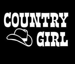 Country Girl With Hat Decal Sticker - //customstickershop.us/product-category/western-decals/