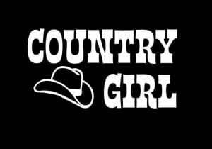 Country Girl With Hat Decal Sticker - https://customstickershop.us/product-category/western-decals/
