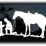 Cowboy Prayer Window Decal Sticker