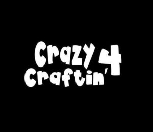 Crazy for Crafting Car Decal Sticker - https://customstickershop.us/product-category/stickers-for-cars/