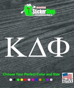 custom greek alphabet letters decal sticker