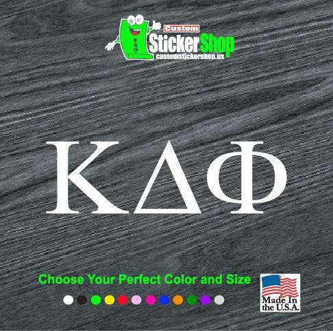 Custom greek alphabet letters decal sticker