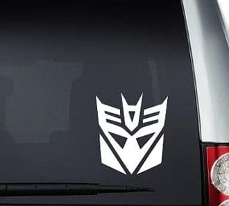 Transformer Decepticon Decal Sticker - https://customstickershop.us/product-category/stickers-for-cars/