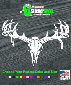 deer skull rear window decal sticker