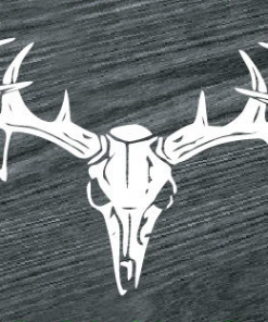 deer skull rear window decal sticker
