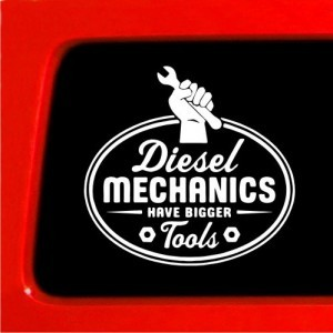Diesel Mechanics Bigger Tools Decal - https://customstickershop.us/product-category/career-occupation-decals/