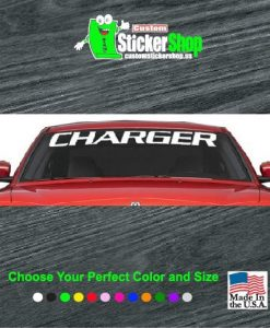 dodge charger windshield banner decal sticker