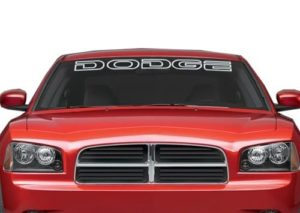 Dodge Outlined Windshield Decals - https://customstickershop.us/product-category/windshield-decals/
