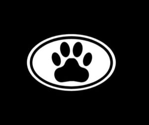 Dog Paw Oval Window Decal Sticker - https://customstickershop.us/product-category/animal-stickers/