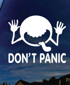 Dont Panic Hitchhikers Guide Sticker - //customstickershop.us/product-category/stickers-for-cars/