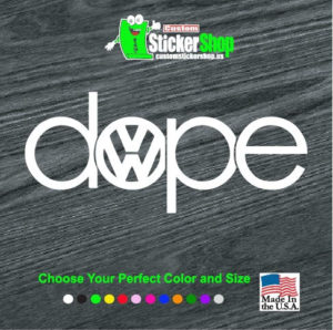 dope vw volkswagen jdm decal sticker