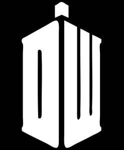 Dr Who DW Window Decal Sticker - //customstickershop.us/product-category/stickers-for-cars/