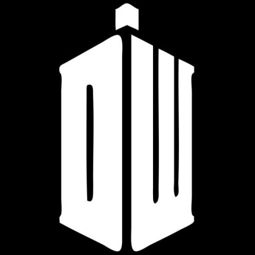 Dr Who DW Window Decal Sticker - https://customstickershop.us/product-category/stickers-for-cars/