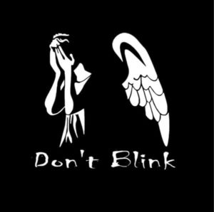 Dr Who Weeping angel Dont Blink Decal - https://customstickershop.us/product-category/stickers-for-cars/