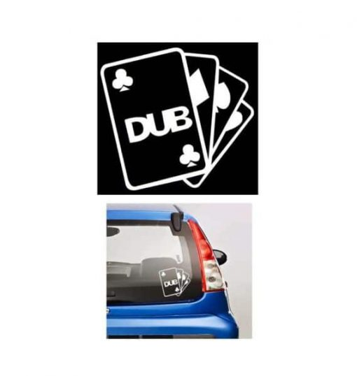 Dub Club Aces JDM Stickers - https://customstickershop.us/product-category/jdm-stickers/