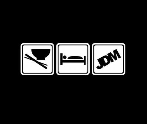 Eat Sleep JDM Decal Stickers II - https://customstickershop.us/product-category/jdm-stickers/