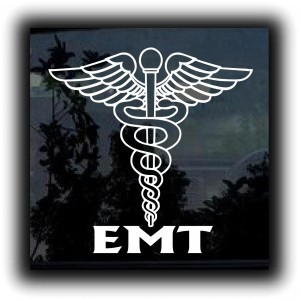 EMT Caduceus Decal Sticker - https://customstickershop.us/product-category/career-occupation-decals/