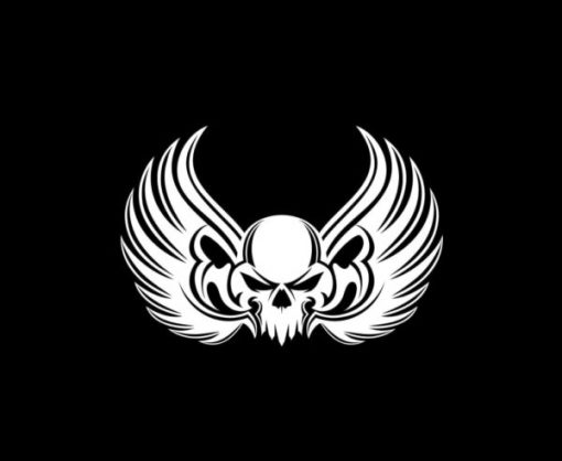 Winged Skull Stickers for Cars - https://customstickershop.us/product-category/stickers-for-cars/