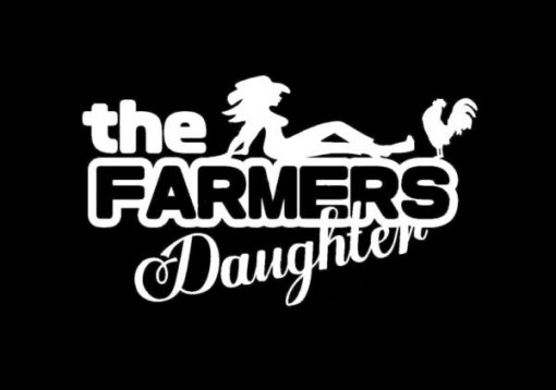 Farmers Daughter Window Decals - https://customstickershop.us/product-category/funny-window-decals/