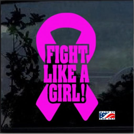fight like a girl breast cancer ribbon