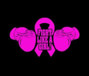 Fight Like a Girl Cancer Ribbon Decal