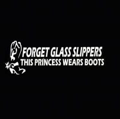 Boots Princess Truck Window Decal - https://customstickershop.us/product-category/western-decals/