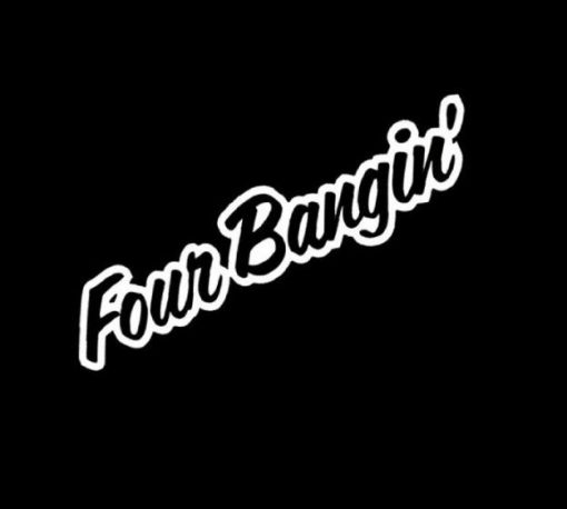 Four Bangin Funny JDM Stickers - https://customstickershop.us/product-category/jdm-stickers/
